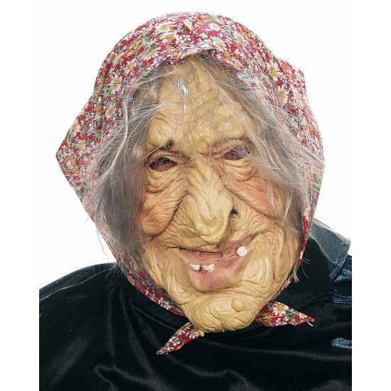 Griezelig oud vrouwtje masker