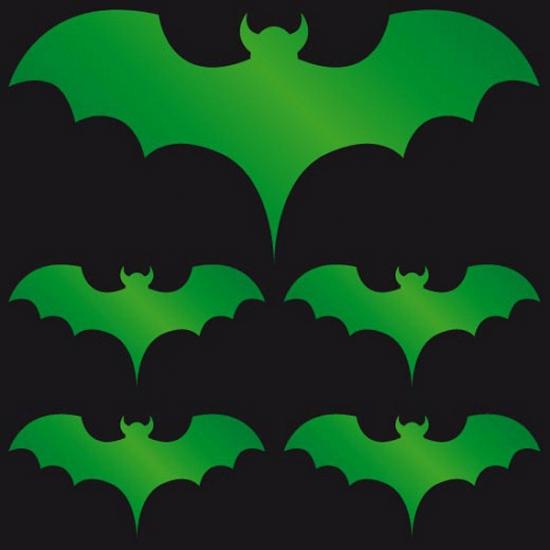 Halloween - Reflecterende sticker groene vleermuis
