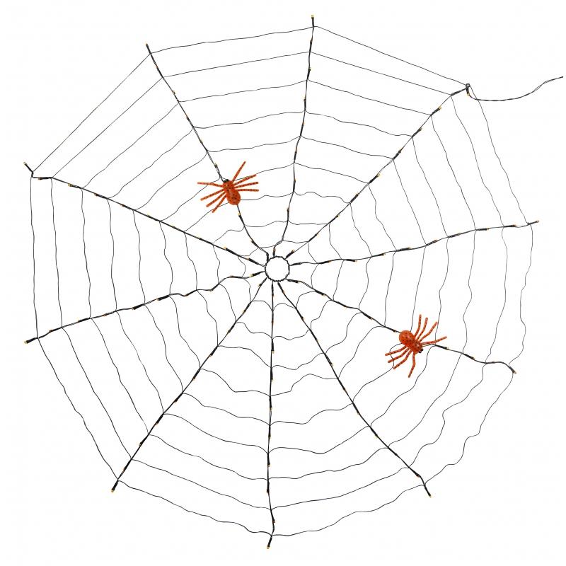 Horror spinnen web led 120 cm