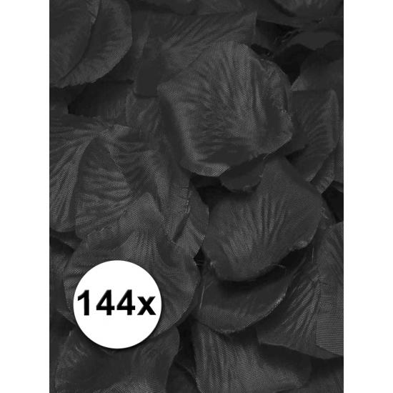 Luxe zwarte rozenblaadjes