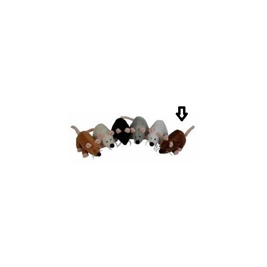 Muizen knuffels bruin 13 cm