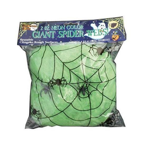 Nep spinnenwebben groen