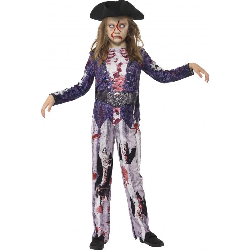 Piraten zombie verkleedkleding voor meisjes
