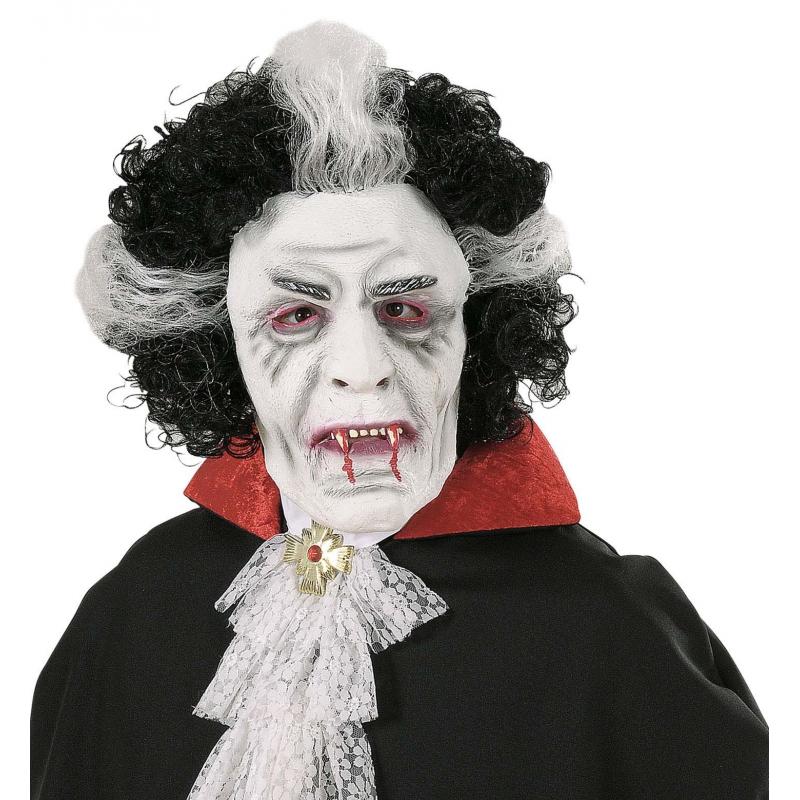 Wit dracula masker
