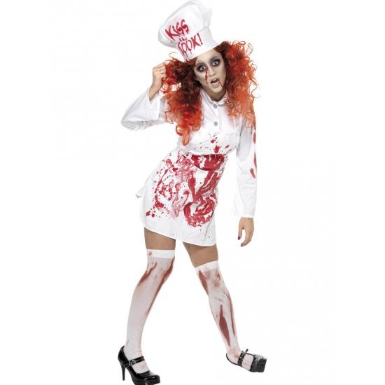 Wit koks jurkje met bloed