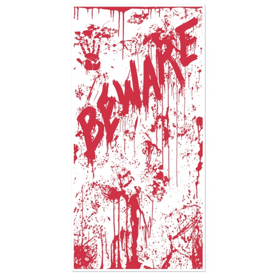 Bebloede Halloween deurposter
