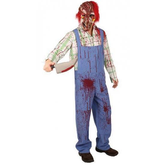 Griezelig clown zombie kostuum met bloedspetters
