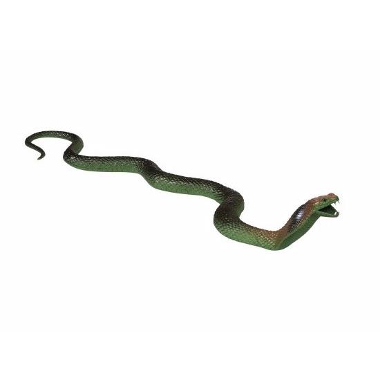 Groene rubberen cobra van 80cm
