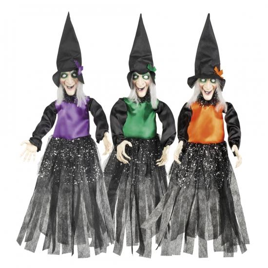 Halloween - Heksen hangdecoratie oranje 70 cm