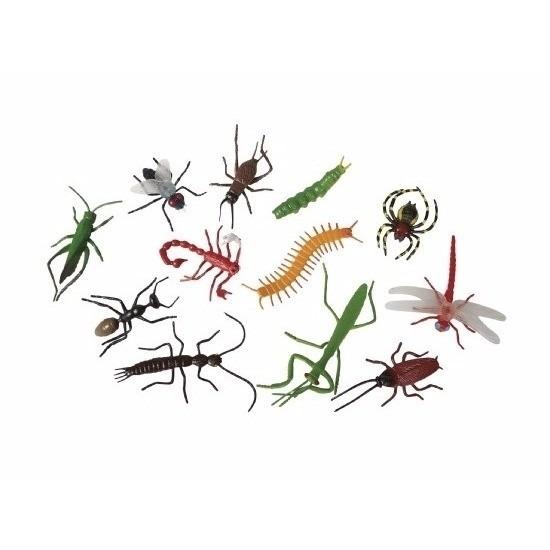 Halloween - Plastic enge halloween beestjes insecten 12 stuks