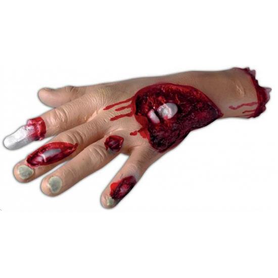 Horror thema bloederige hand