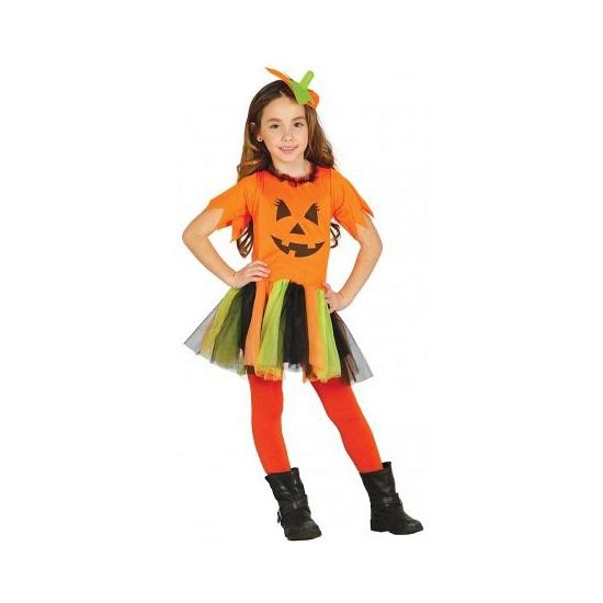 Kinder halloween kostuum pompoen jurkje