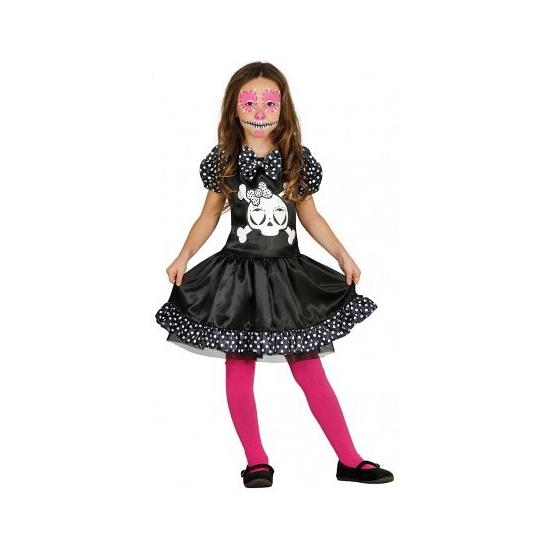 Kinder kostuum skelet jurkje met stippen