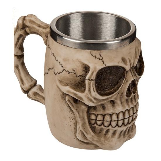 Koffie beker met doodskop