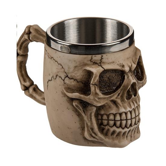 Koffie beker met doodskoppen