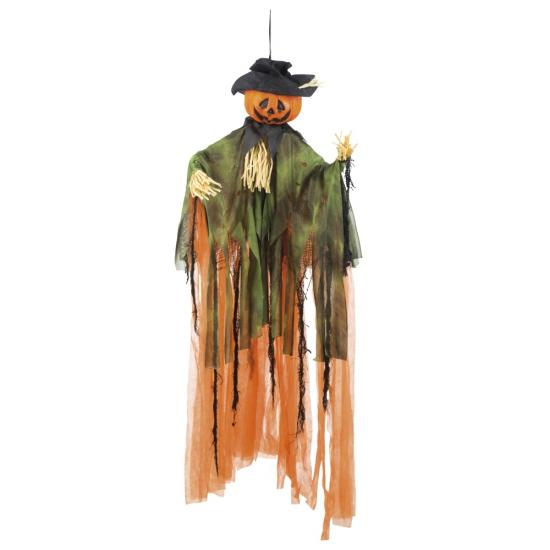 Pompoen Halloween pop met cape 100 cm