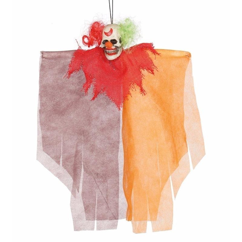 Spookhuis decoratie pop clown 30 cm