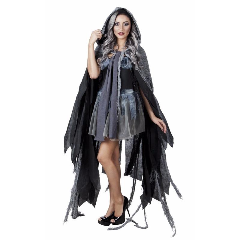 Verkleed cape grijs voor volwassenen