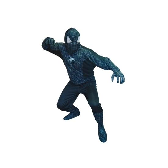 Zwarte spinnenheld kostuum heren