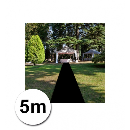 Zwarte versiering lopers 1 meter bij 5 meter