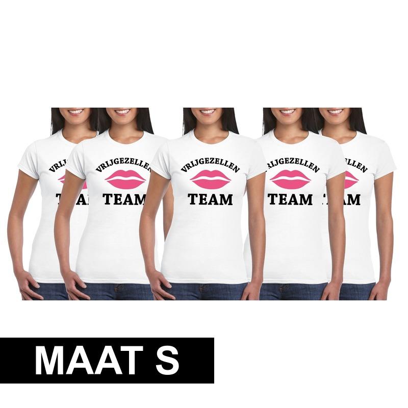 Ongekend Halloween 5x Vrijgezellenfeest Team t-shirt wit dames Maat S in de SA-84