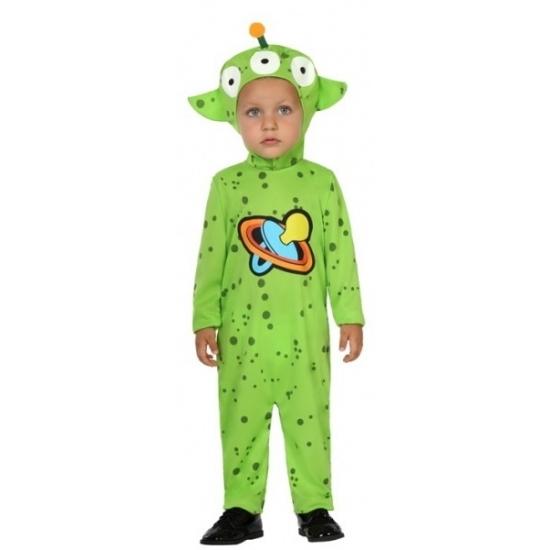 Peuter Halloween.Halloween Verkleedpak Groene Alien Voor Peuters In De