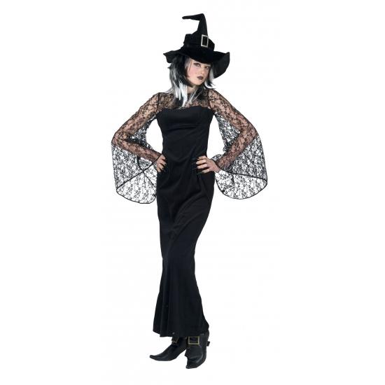6ae5e40a6a60af Halloween Zwarte heks verkleedkleding in de griezeligste feestwinkel