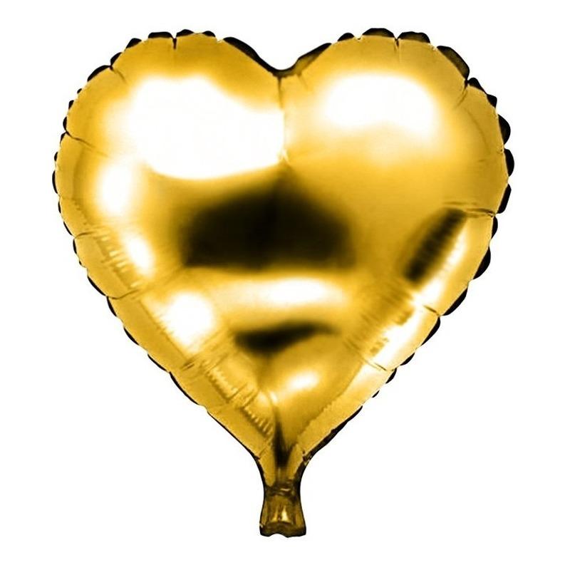 Halloween Folie Helium Ballon Gouden Hart 49 Cm In De Griezeligste
