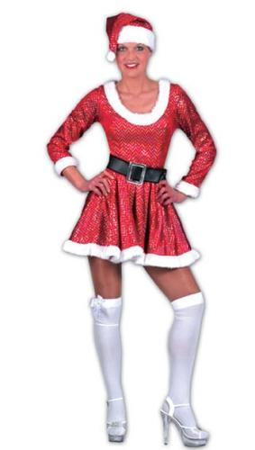 2cf3e6da60e955 Halloween Dames kerst jurk met muts in de griezeligste feestwinkel