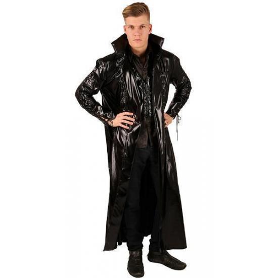 Lange Zwarte Winterjas Heren.Halloween Lange Zwarte Jas Voor Heren In De Griezeligste Feestwinkel