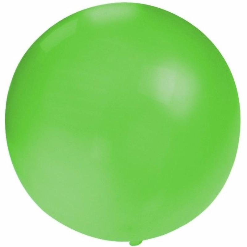 Halloween Ronde Ballon Groen 60 Cm Voor Helium Of Lucht In De