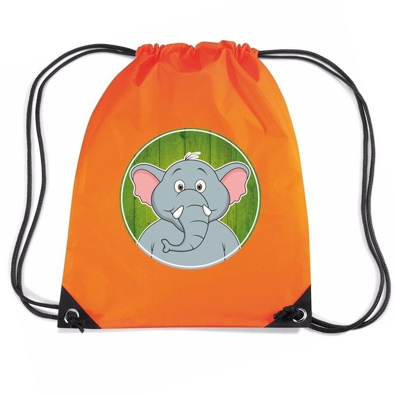 d3c8bc409b1 Halloween Olifanten rugtas / gymtas oranje voor kinderen in de ...
