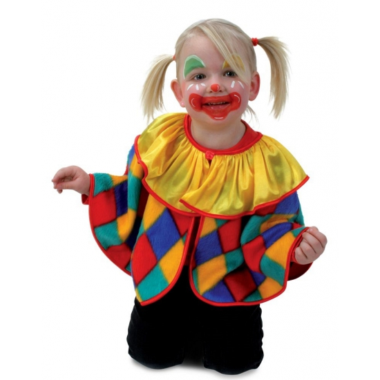 Peuter Halloween.Halloween Clown Verkleed Poncho Voor Peuters In De