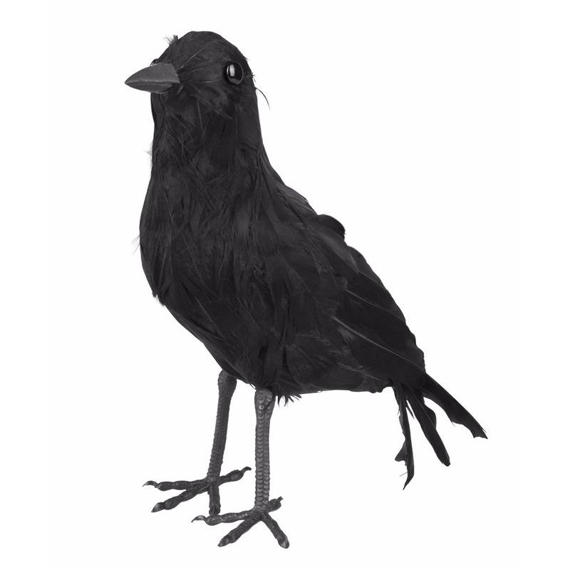 Plastic raven 23 cm