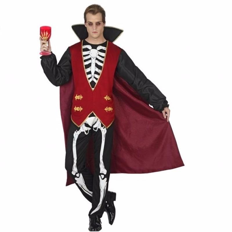 Vampieren heren kostuum met botten opdruk