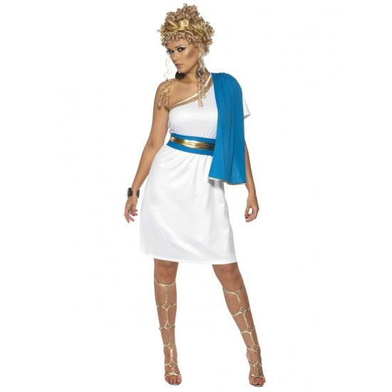 4eb9b0a301846a Halloween Wit met blauw romeins jurkje inclusief lauwerkrans in de ...