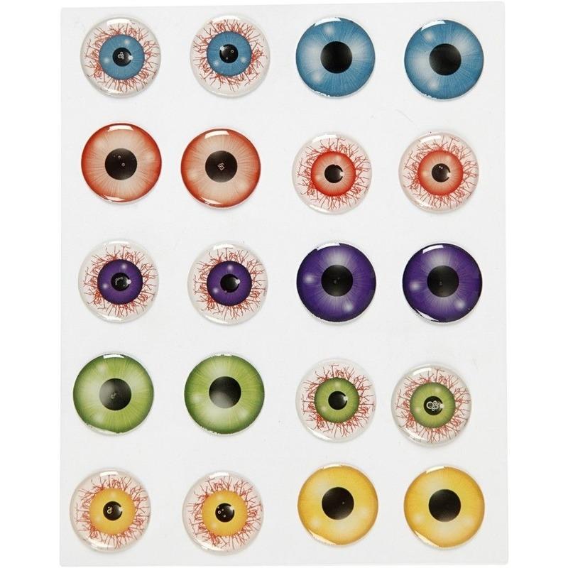 Zelfklevende gekleurde 3D hobby ogen-oogjes